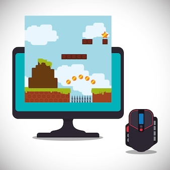 Online games control mouse computer