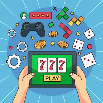 Online games illustrated design