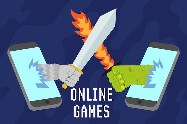 携帯電話のオンラインゲーム