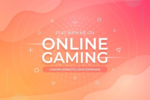 Online gaming abstract background template