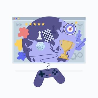 Concetto di gioco online