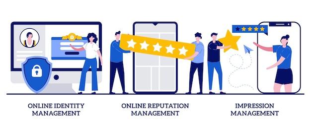 Управление идентичностью в интернете, управление репутацией в интернете, концепция управления впечатлениями.