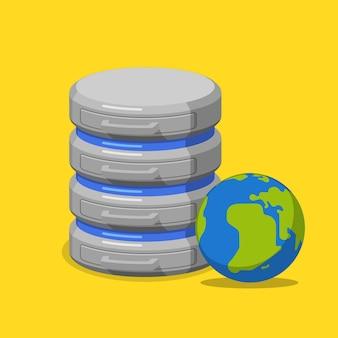 온라인 인터넷 데이터베이스 평면 아이소 메트릭