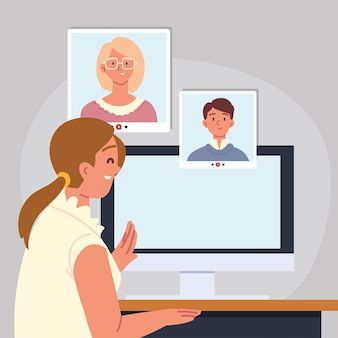 Online interview for job by computer