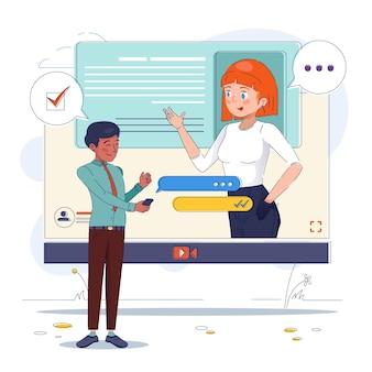 Online job interview