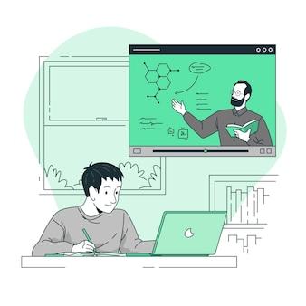 Illustrazione di concetto di apprendimento online