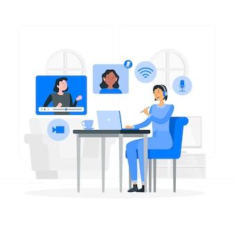 Online learningconcept illustration