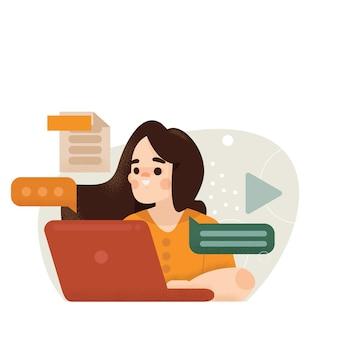 Иллюстрация концепции онлайн-обучения