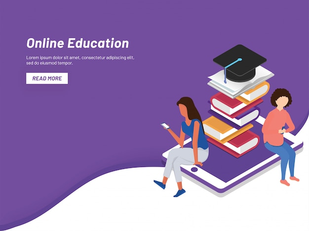 Online learning concept.