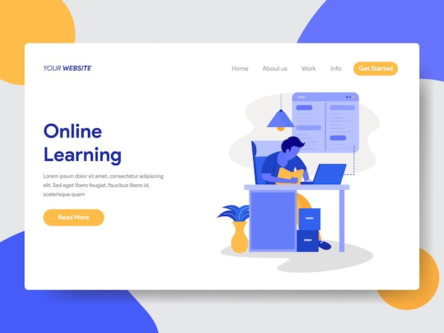 Online learning illustration for web pages