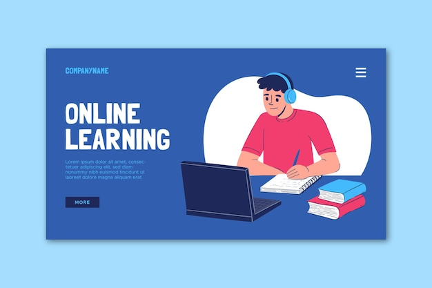 온라인 학습 랜딩 페이지