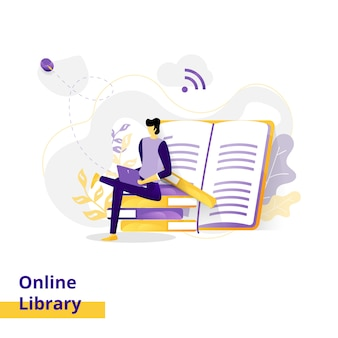 Online library illustration