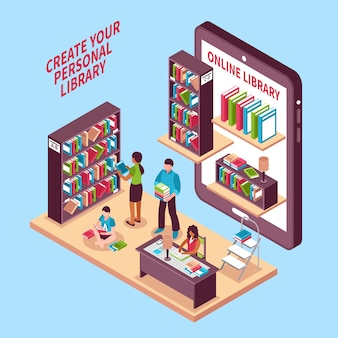 Online library isometric