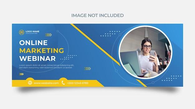 온라인 마케팅 비즈니스 웨비나 및 기업 소셜 미디어 게시물 템플릿