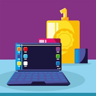 노트북으로 온라인 마케팅