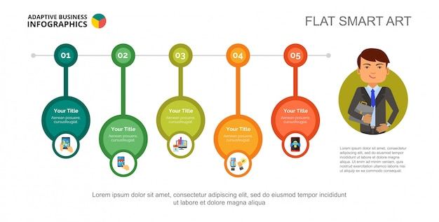 Online marketing concept slide template