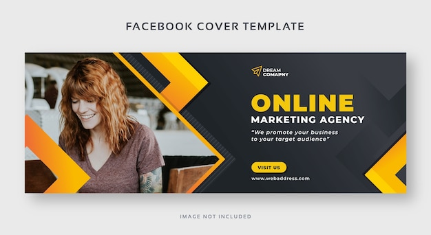 Online marketing facebook cover web banner template