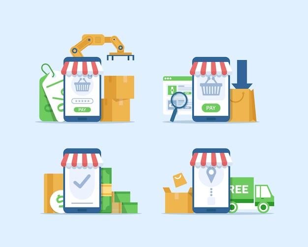 オンラインマーケティング 。インターネットビジネスプロセス、モバイルマーケティング、eマーケティング、eコマース