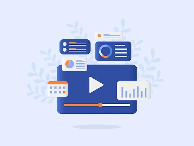 Online marketing vector illustration flat style design
