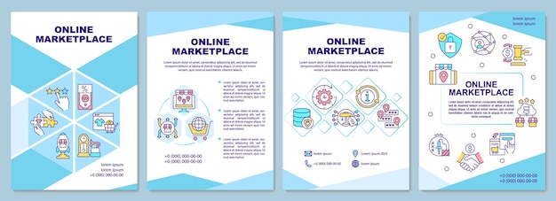 Шаблон брошюры онлайн-рынка. продукты электронной коммерции.