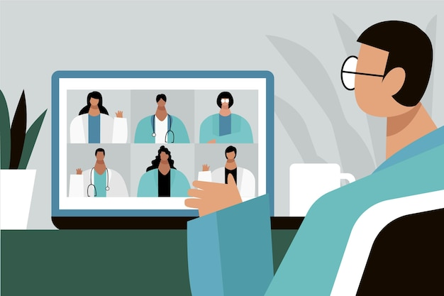 Conferenza medica online illustrata