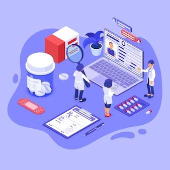 Online medical diagnostics isometric