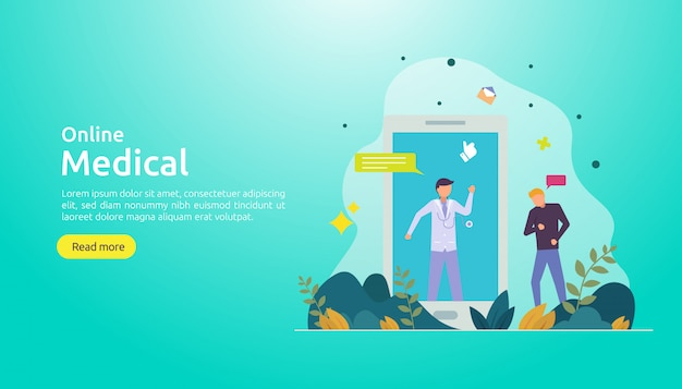 Online medical support background template