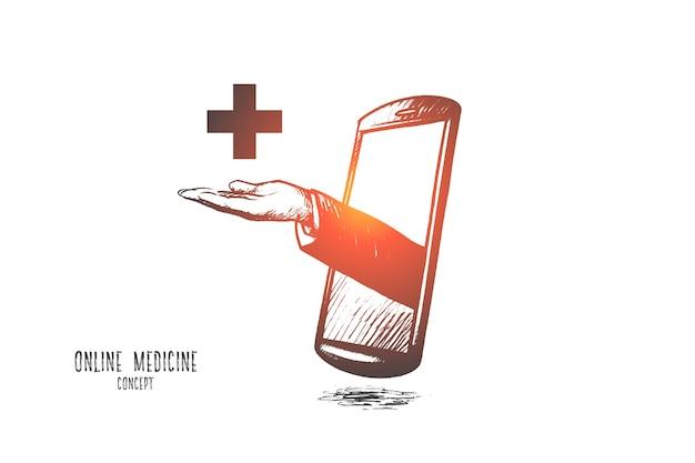 Online medicine concept illustration