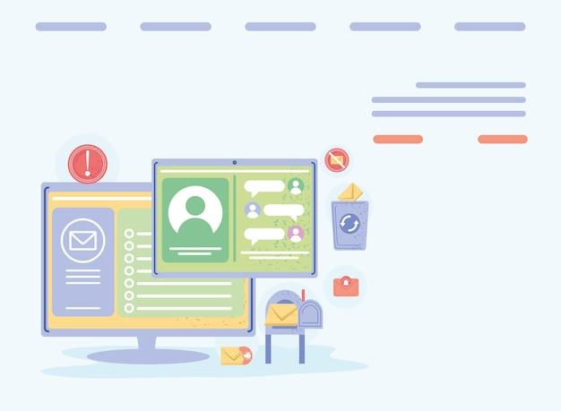 Online messaging communication