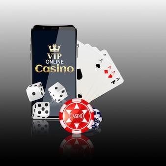 オンラインモバイルカジノの背景。