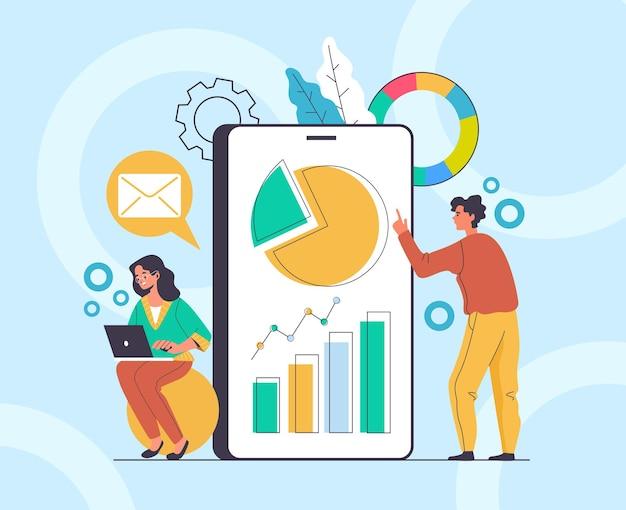 온라인 모바일 컨설턴트 재정 고문 개념