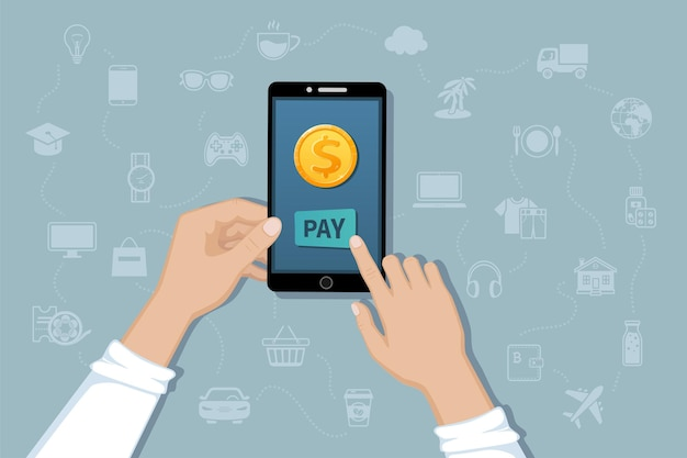 Online mobile payment money transfer service pay for goods and services by cashless payments
