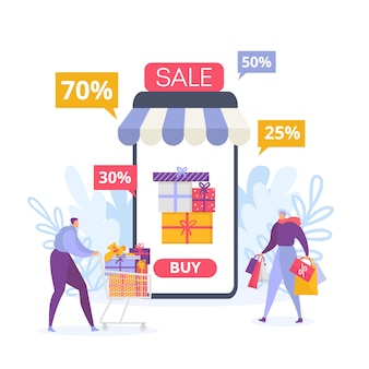 Online mobile shopping and sale
