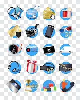 Online movies store icon