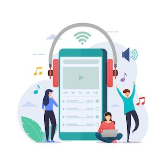 Online music playlist