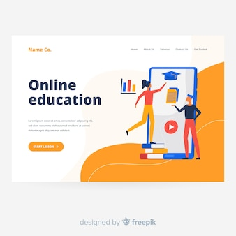 Online oducation landing page template