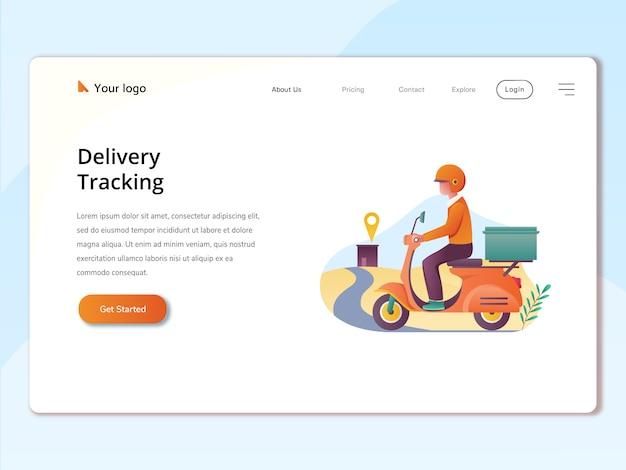 Целевая страница веб-сайта иллюстрации концепции заказа онлайн