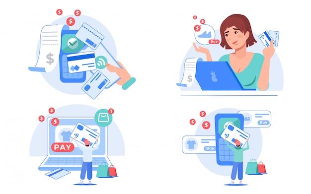 オンライン注文ワイヤレスモバイル決済サービスセット