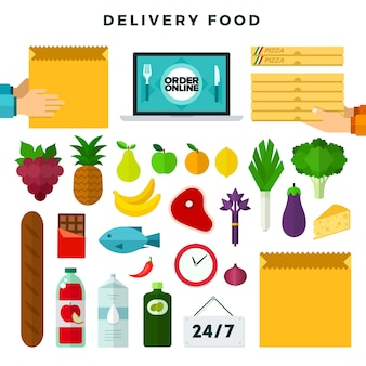Online ordering and delivery food