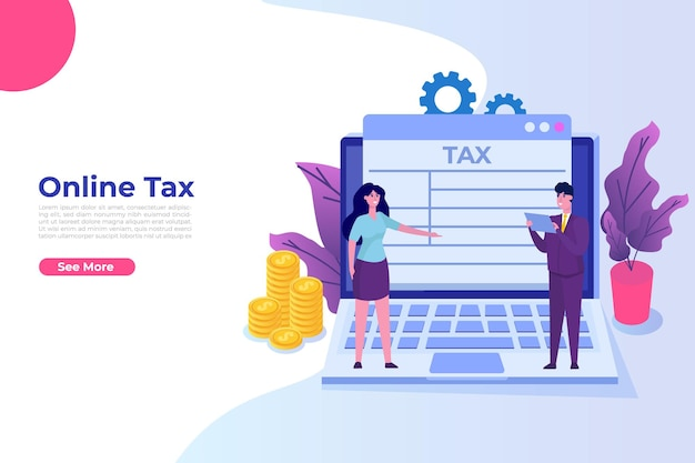 Online paying taxes, payment, invoice