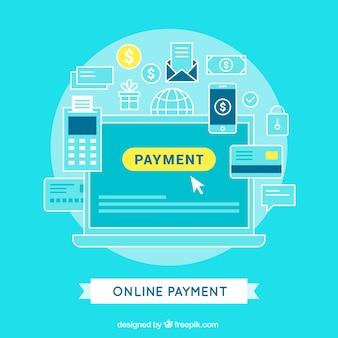 Progettazione sfondo di pagamento online