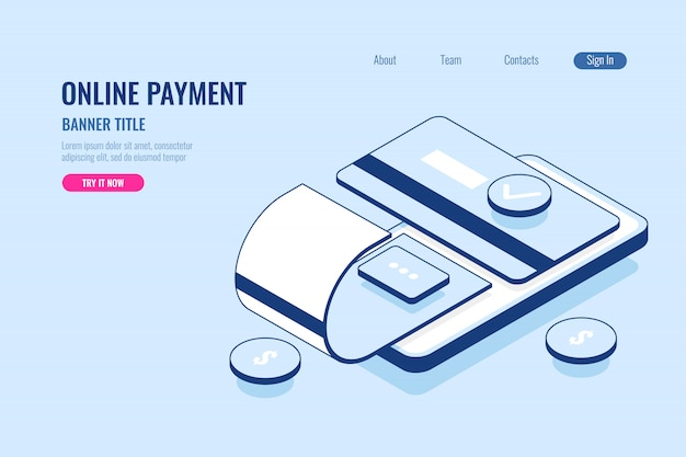 Online payment, banner title