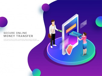 Online payment by mobile.