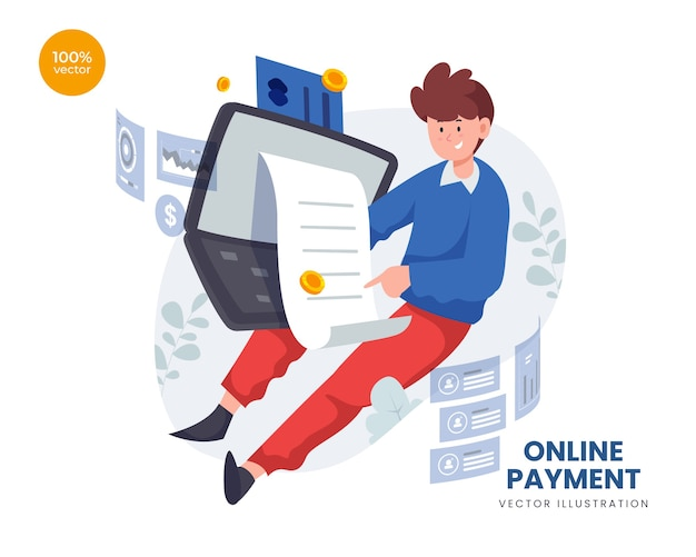 カードデジタルでインターネット上でお金の買い物を転送する人とのオンライン支払いの概念