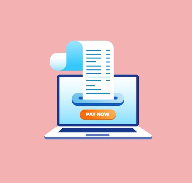 バナーとランディングページのオンライン支払いフラットベクトルイラスト