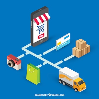 Online payment, isometric