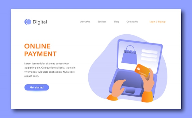 Online payment landing page design