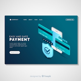 Online payment landing page template