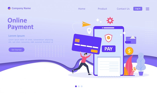 Online payment landing page