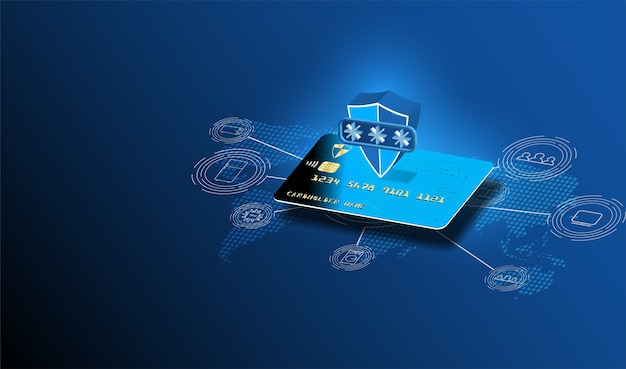 Online payment security transaction via credit card.
